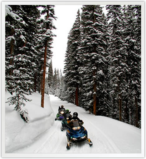 Copper Mountain Group Snowmobile Tours